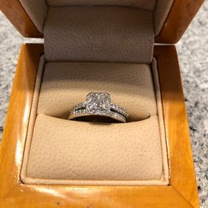 George Thompson diamond ring set